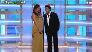 Shahrukh Khan Presenting Slumdog Millionaire At Golden Globe Awards 2009