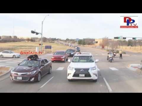 watch Car Rally visuals at Megastar Chiranjeevi Khaidi No 150 Release Hungama in Dallas, Texas