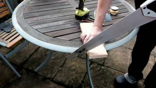 Making a wooden ring with minimal tools