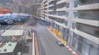 F1 GP MONACO | RIO HARYANTO CRASH FP2 | RIO HARYANTO MENABRAK DINDING PEMBATAS