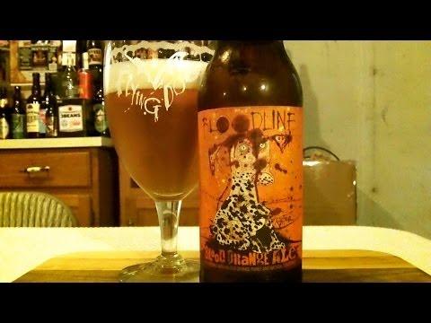 Flying Dog Brewery Bloodline Blood Orange IPA (7.0% ABV) DJs BrewTube Beer Review #572