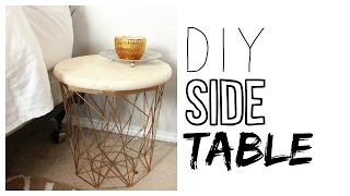 DIY Side Table   How to Make a Night Stand