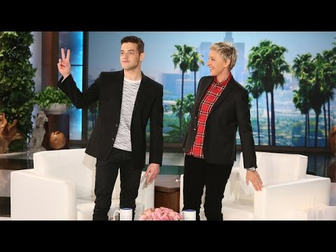 Rami Malek Makes His Ellen Debut