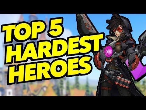 Top 5 Hardest Heroes to Play in Overwatch