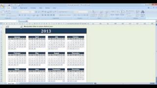 Cara membuat kalender di Microsoft Excel 2007