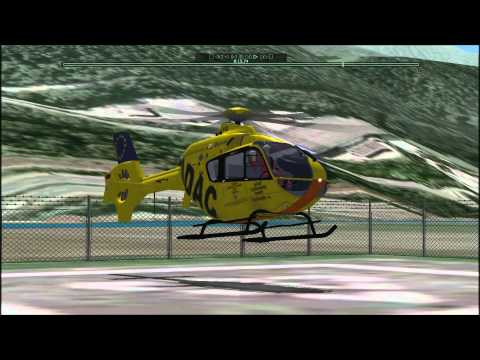 X-Plane 9 - EC 135 - Landung