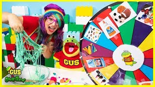 Sticky Slime Spinning Wheel Challenge with Surprise Colors!