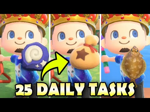 25 Things To Do EVERY DAY In Animal Crossing New Horizons BEST Daily Tasks Guide