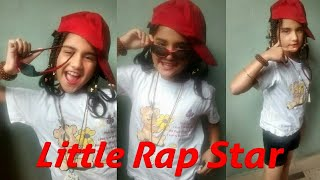 Little Indian girl rapping