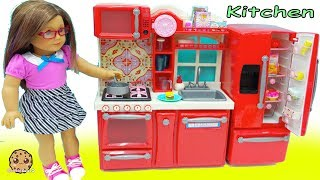 American Girl Cooking Playdoh Food + Surprise Blind Bags In Doll Kitchen