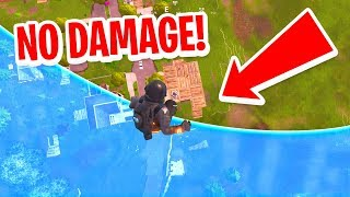 How To SURVIVE FALLING From MAX HEIGHT in Fortnite