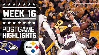 #2 Ravens vs. Steelers | NFL Week 16 Christmas Game Highlights