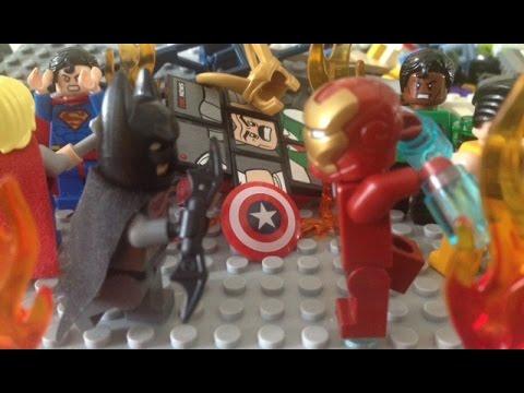 Lego DC vs Marvel part 2 3 The epic showdown thingy
