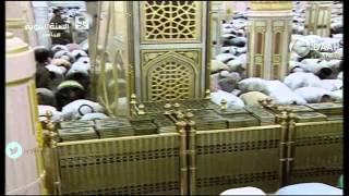الشيخ محمد أيوب يظهر عليه التعب والشيخ احمد طالب يكمل عنه ليلة 6 رمضان 1436