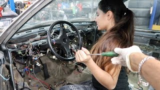 Using a SCREWDRIVER to turn on car ...