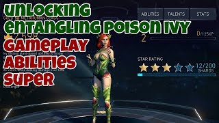 Injustice 2 Mobile | Unlocking Entangling Poison Ivy | Gameplay - Abilities - Super