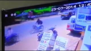 Manisha Mishra accident video of Berhampur