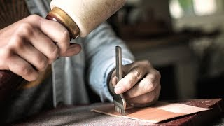 Making a Slim Bifold Leather Wallet