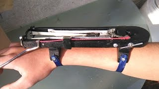 How To Make Wrist Mounted Slingshot Cannon | Part 2