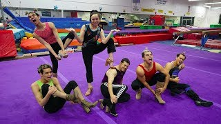GUYS TRY GYMNASTICS IN HIGH HEELS!