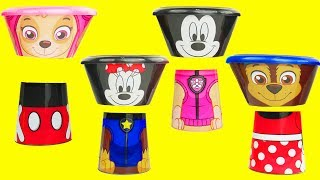 Paw Patrol Food Eating Contest with Mickey Mouse to Learn Color, Match Wrong Heads | Sparkle Spice