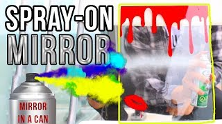 HOW TO MAKE CUSTOM MIRRORS WITH SPRAY PAINT!   MIRROR IN A CAN
