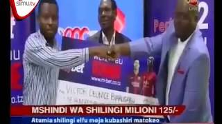 Presentation of M-Bet Winner of 125 Million