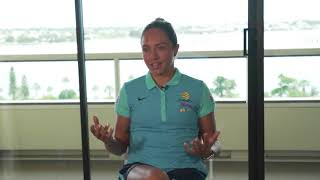 Kyah Simon shares her experience on the 2010 AFC Women