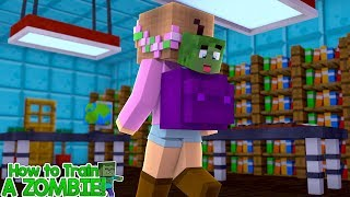 ZOMBIE BABY SNEAKS INTO SCHOOL | HOW TO TRAIN YOUR ZOMBIE | Minecraft Little Kelly