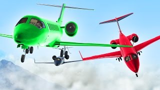 LANDING 3 PLANES ON PLANES! (GTA 5 Funny Moments)