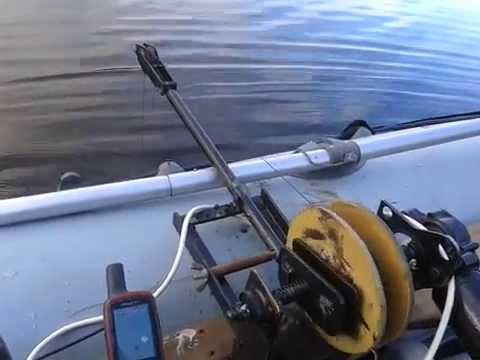 самодельная ручная лебедка для лодки