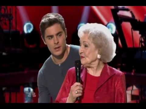 Betty White & Zac Efron sings on The Voice HD