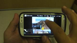 Video Maker Android App On Samsung Galaxy S3 - Sprint Version