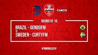 Brazil vs Sweden   GendoFM vs Curty FM   Football Manager 2018   #FMWorldCup
