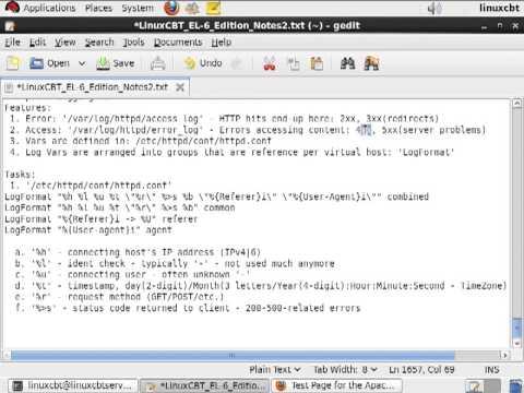 Web server Apache logs