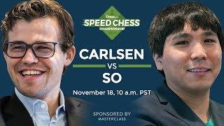 Speed Chess Championship: Magnus Carlsen Vs Wesley So