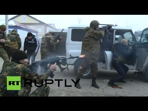 Chechnya terror attack Heavy fighting in Grozny fierce shootout EXCLUSIVE