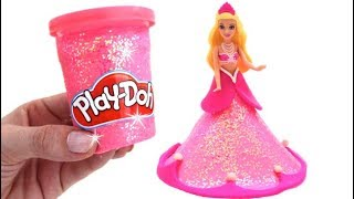 Learn Colors with Play Doh Making Barbie Dress for Kids