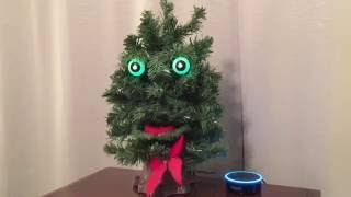 Amazon Alexa Echo Dot Becomes Creepy Talking Christmas Tree