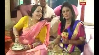 Laksmi Puja celebration in actress Aparajita Adhya's home