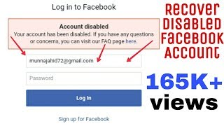 Recover your Disabled facebook account in just less than 2 minutes