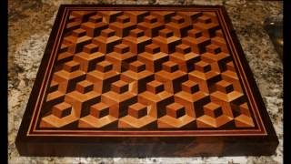 Part 2 Making 3D Double Pop End Grain Cutting Board with Multilayered Boarder 20 x 20 x 1 75