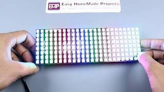 How to Make RGB Scrolling Text Display Using NeoPixel Matrix