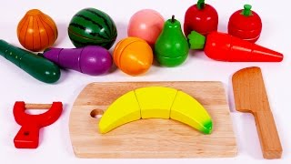Learn Colors with Cutting Fruit and Vegetables Playset for Children