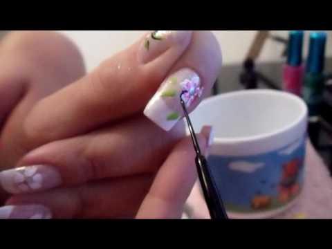 tutorial francesinha decorada com flor