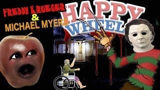 Midget Apple Plays - Happy Wheels: Freddy Krueger & Michael Myers! (#Shocktober)