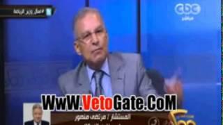 خناقة على الهواء بين المستشار مرتضى منصور وعبد العزيز عبد الشافى