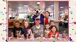 Ellen's Kid Experts Throw a Surprise Party for Andy at Chuck E. Cheese