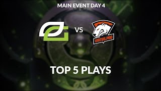 Optic Gaming vs Virtus.pro Top 5 plays The International Main Event Day 4