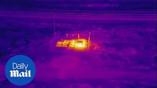 Infrared drone video of the fire at Chevron